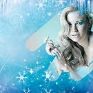 Snow Queen - Happy New Year & Merry Christmas postcard, wallpaper template by Anton Oparin