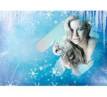 Snow Queen - Happy New Year & Merry Christmas postcard, wallpaper template Photographic Print