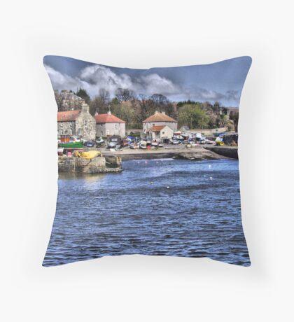 Dysart Harbour Throw Pillow