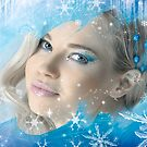 Snow Queen - Happy New Year & Merry Christmas postcard, wallpaper template 2 by Anton Oparin