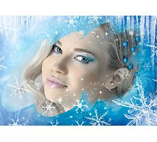 Snow Queen - Happy New Year & Merry Christmas postcard, wallpaper template 2 Photographic Print