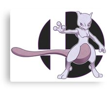 Mewtwo, Back to Brawling! Canvas Print