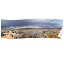 Storm front in Escalante, Utah Poster