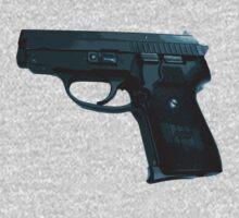 P-239 Pistol Gun Teeshirt by Ryan Houston