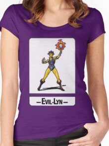 He-Man - Evil-Lyn - Trading Card Design Women's Fitted Scoop T-Shirt