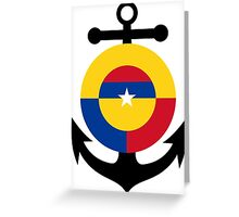 Roundel of the Colombian Naval Aviation  Greeting Card