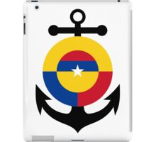 Roundel of the Colombian Naval Aviation  iPad Case/Skin