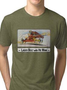 He-Man - Laser Bolt - Trading Card Design Tri-blend T-Shirt