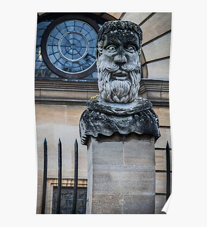 Comical Statue at Oxford University Poster