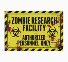 ZOMBIE RESEARCH FACILITY sign by Tony  Bazidlo