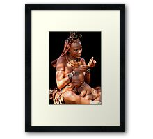 HIMBA MOTHER AND CHILD 2 Framed Print