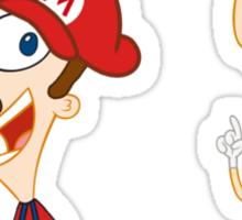 Mario Flynn & Luigi Fletcher Sticker