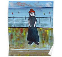 Girl with the red hat Poster