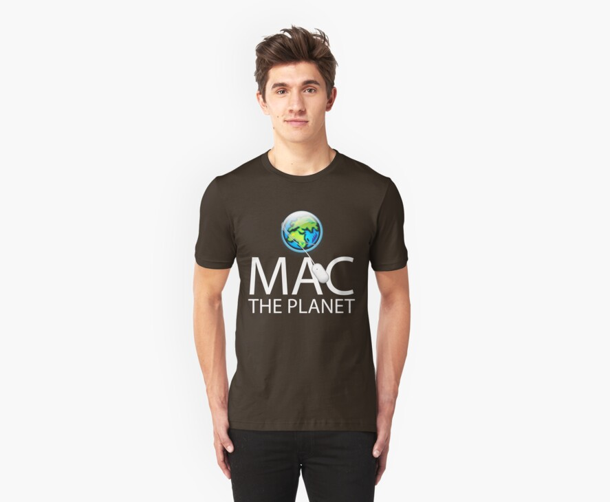 Mac The Planet White Text by Jim Felder