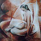 nude / acrylic 60 x 80cm by Wheeler