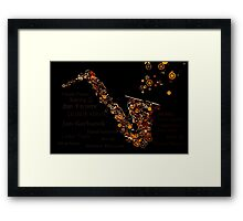 The Great Saxophone Framed Print