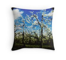 Springtime in the orchard Throw Pillow