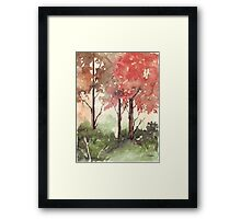 Trees are the Earth's Endless Effort Framed Print