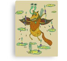 With Wax and Feathers it Flew Canvas Print