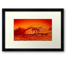Surf at the edge of volcano Framed Print