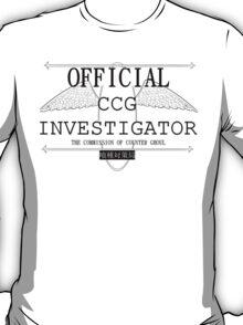 Official CCG Investigator T-Shirt