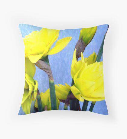Yellow beauties Throw Pillow