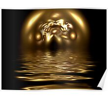 Abstract Gold Reflection Poster