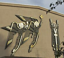 Sculptures of Angels and Christ by Rod Raglin