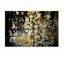 Bas Relief - Angkor, Cambodia Art Print