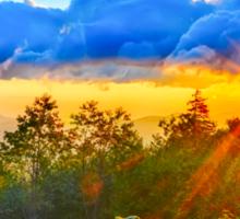 sunrise over blue ridge Sticker