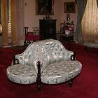 Seats where a couple could court each other at Werribee Mansion by VENUSC1