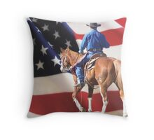 THE AMERICAN COWBOY Throw Pillow