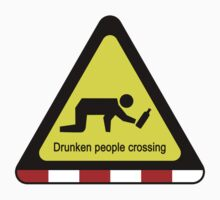 Drunken people crossing sign Baby Tee