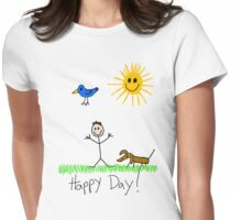 Happy Day Womens Fitted T-Shirt