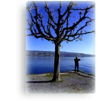 Photographing the Lake of Zurich Canvas Print