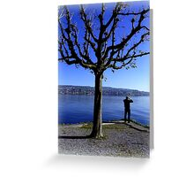 Photographing the Lake of Zurich Greeting Card