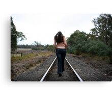And she never looked back... Canvas Print