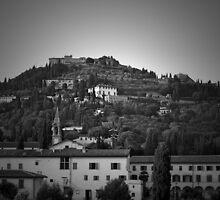 Tuscany Hillside in BW by ArtistryBySonia