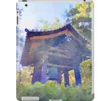 Ancient Belfry Wooden Bell Tower in Nara Japan iPad Case/Skin