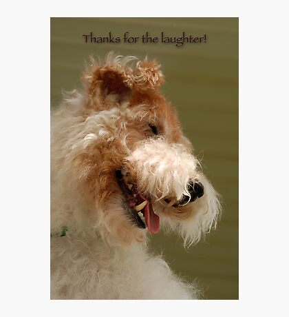 Thanks for the laughter Photographic Print