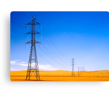 Power Lines at Clare Canvas Print