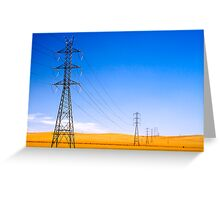Power Lines at Clare Greeting Card