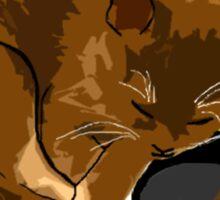 Catnap Everdeen (white text) Sticker