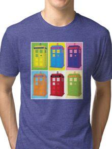 Warhol Tardis Tri-blend T-Shirt