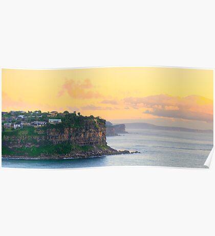 Head To Head - Bungan Head Sydney Beaches - The HDR Series - Sydney, Australia Poster