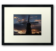 Lilly Sunset Framed Print