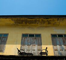 Rooftop Patio - Chiang Saen, Thailand by Stephen Permezel