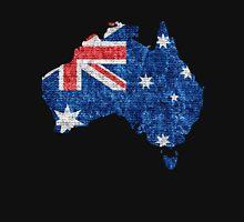 Australia Flag and Map Burlap Linen Rustic Jute Unisex T-Shirt