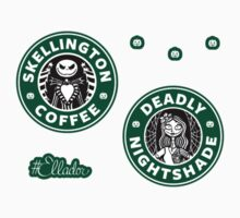 Jack and Sally Coffee Mini Sticker Pack by Ellador