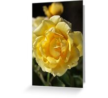 Happy Yellow Rose Greeting Card